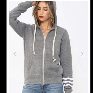 Sol Angeles Gray essential hoodie sz small